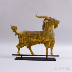 Gilt and Molded Copper Goat Weathervane