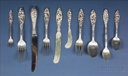 "Dominick and Haff Sterling ""Labors of Cupid"" Flatware Service"