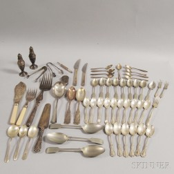 Assorted Group of Sterling Silver and Silver-plated Flatware