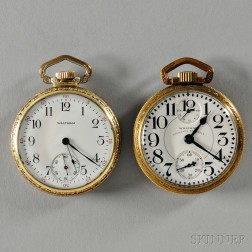 Two Waltham Vanguard Gold-filled Watches