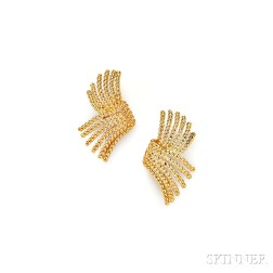 "18kt Gold ""V-Rope"" Earrings, Schlumberger, Tiffany & Co."