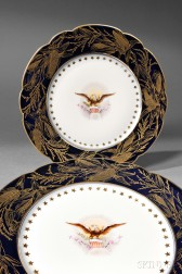 Two Harrison Administration White House China Plates