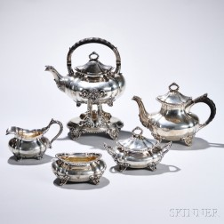 Five-piece Gorham Sterling Silver Tea Service