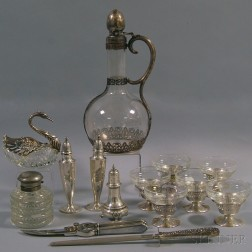 Group of Silver and Silver-mounted Tableware