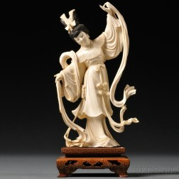 Ivory Carving of a Dancing Woman