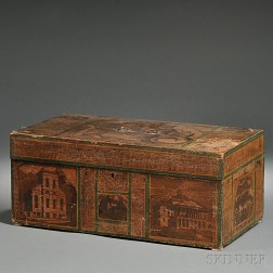 Paint-decorated and Decoupage Pine Box