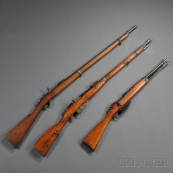 Two Russian Rifles and an Italian Rifle