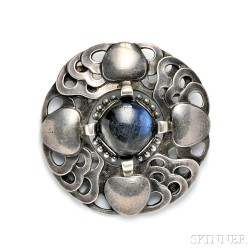 .830 Silver and Labradorite Brooch, Georg Jensen