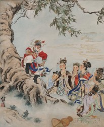 Painting Depicting the Heavenly Peach Banquet