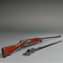 Sporterized Krag Bolt Action Rifle and a Barreled Action