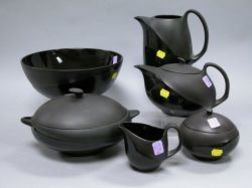 Wedgwood Modern Basalt Six-piece Partial Dinner Service.