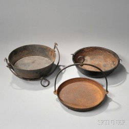 Three Cast Iron Hearth Vessels