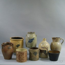 Eight Stoneware Vessels