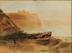 Henry Barlow Carter (British, 1803-1867)      Whitby Abby