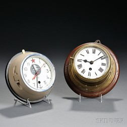 Two Marine Lever Timepieces