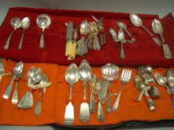 Approximately Ninety Pieces of Sterling Silver and Coin Silver Flatware.