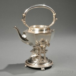 Wallace Sterling Silver Kettle on Stand