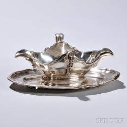 French .950 Silver Sauceboat