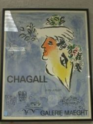 Framed Galerie Maeght Poster after Chagall.