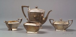 "Four Piece Gorham Sterling ""Fairfax"" Coffee Set"