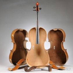 Three Full Size Cellos Without Tops