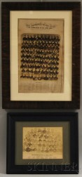 Two Framed Civil War Officer Photographic Prints