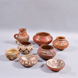 Eight Southwest Pottery Vessels
