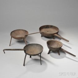 Four Cast Iron Pans