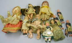 Group of Assorted Celluloid Dolls and Figures