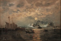Thomas Clarkson Oliver, called Clark Oliver (American, 1827-1893)      Harbor View