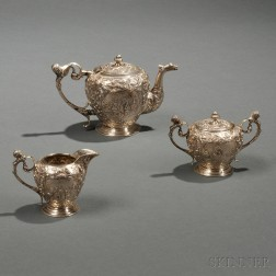 Three-piece Dutch .833 Silver Tea Service