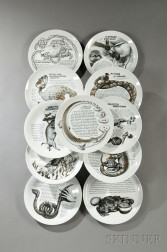 Eleven Fornasetti for Fleming Joffe Cook   Plates