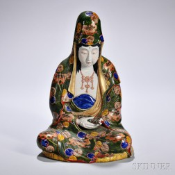 Polychrome Figure of Kannon