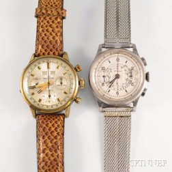 Wakmann and Lemania Chronograph Wristwatches