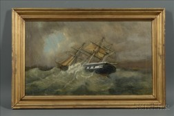 Raphael Monleon y Torres (Spanish, 1847-1900)    Sailing into the Eye of the Storm.