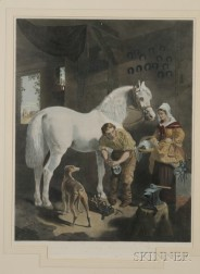 Lot of Four Equestrian Subjects:      After John Frederick Herring, Sr. (British, 1795-1865)   Rest