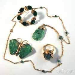 Small Group of Jade Jewelry