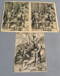 Northern School, 17th/18th Century      Three Prints: Two Impressions of Christ Brought Before Pilate