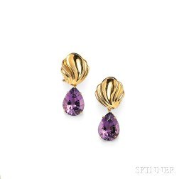 18kt Gold Gem-Set Day/Night Earpendants, Paloma Picasso, Tiffany & Co.