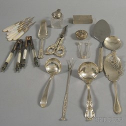 Group of Mostly Sterling Silver Flatware Serving Pieces