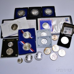 Twenty Mostly Silver Commemorative Coins