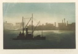 John Taylor Arms (American, 1887-1953)  Lot of Two New York Views:  New York From Staten Island Ferry