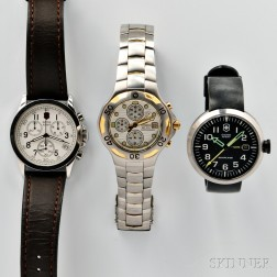 Citizen and Two Swiss Army Wristwatches
