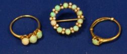Three Gold and Opal Articles