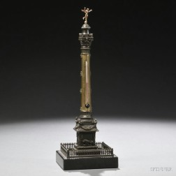Grand Tour Bronze Desk Thermometer Model of the July Column