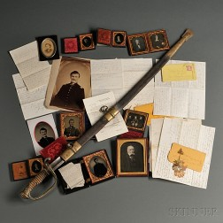 Sword, Images, and Letters of Captain David D. Bard and Rodolphus Bard
