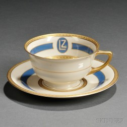 Heinrich & Co. Porcelain Cup and Saucer from the Graf Zeppelin   Airship