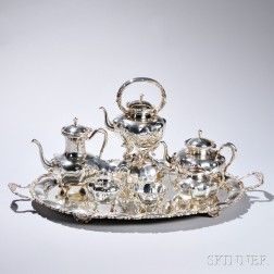 Seven-piece Mexican Sterling Silver Tea and Coffee Service