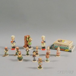 Thirteen Boxed Hummel Figures and Four Books