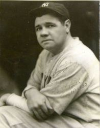 """George Herman """"Babe"""" Ruth Signed Black and White Photograph"""